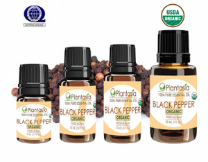 Black Pepper Organic Essential Oil 100% Pure and Natural Therapeutic Grade Aromatherapy