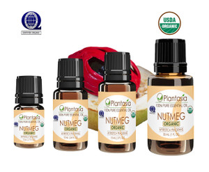 Nutmeg Organic Essential Oil 100% Pure and Natural Therapeutic Grade Aromatherapy