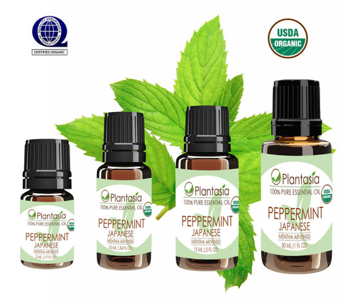 Peppermint Japanese Organic Essential Oil 100% Pure Therapeutic Grade