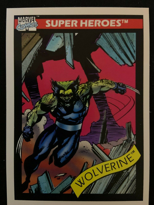 Wolverine (Patch) Marvel Comics IMPEL Trading Card 1990 Series 1