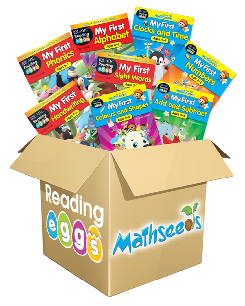 ABC Reading Eggs and ABC Mathseeds My First Combined Book Pack