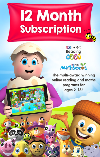 ABC Reading Eggs 12 Month Combined Subscription