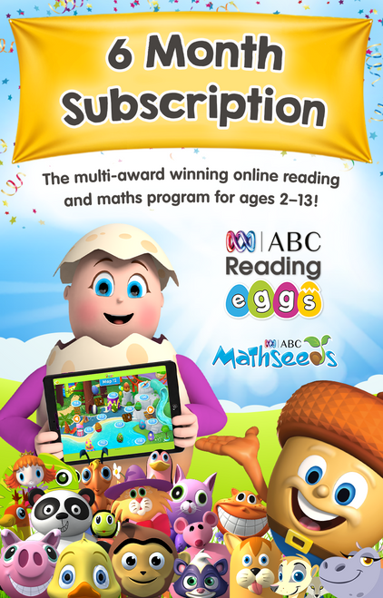 Click Frenzy Offer - ABC Reading Eggs & ABC Mathseeds 6 Month Subscription