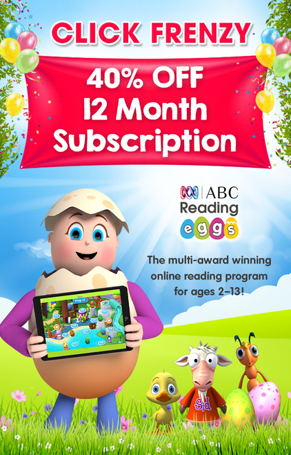Click Frenzy 40% Off ABC Reading Eggs 12 Month Subscription