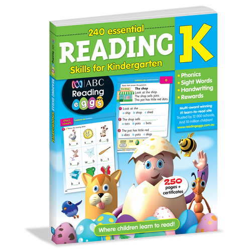 240 Essential Reading Skills for Kindergarten Cover