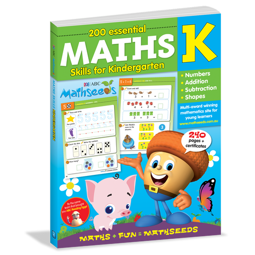 200 Essential Maths Skills for Kindergarten Cover