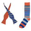 Twisting Stripes Bow Tie Combo