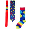 Bouncing Colors Necktie and Coordinating Socks