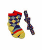 Boys' Bouncing Colors Bow Tie and Coordinating Socks / Bow Tie - Ages 0 - 8 / Socks - Kid's Extra Small - Fits Ages 3-5