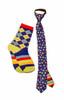 Boys' Bouncing Colors Zipper Necktie and Coordinating Socks Zipper Necktie - Ages 6-10 /  Socks - Kid's Medium - Fits Ages 6-9