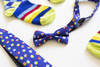 Boys Bouncing Colors Bow Tie & Socks Combo (Ages 3-5)