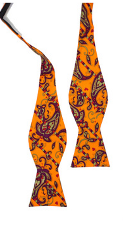Dancing Paisley Bow Tie