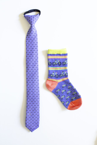 Boys Bicycle Necktie & Socks Combo (Ages 6-9)
