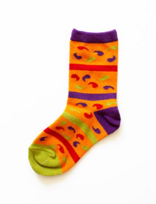 Paisley Sock - Child Medium