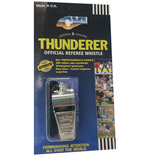 Acme Thunderer Referee Whistle in packaging