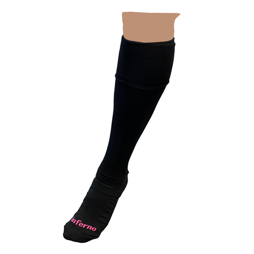 Inferno Referee Long Sock - black/pink