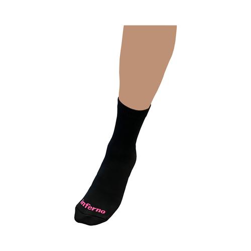 Inferno Referee Crew Sock - black/pink