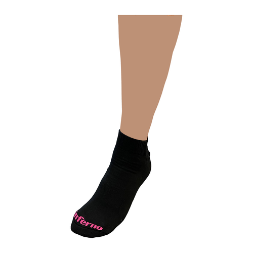 Inferno Referee Ankle Sock - black/pink