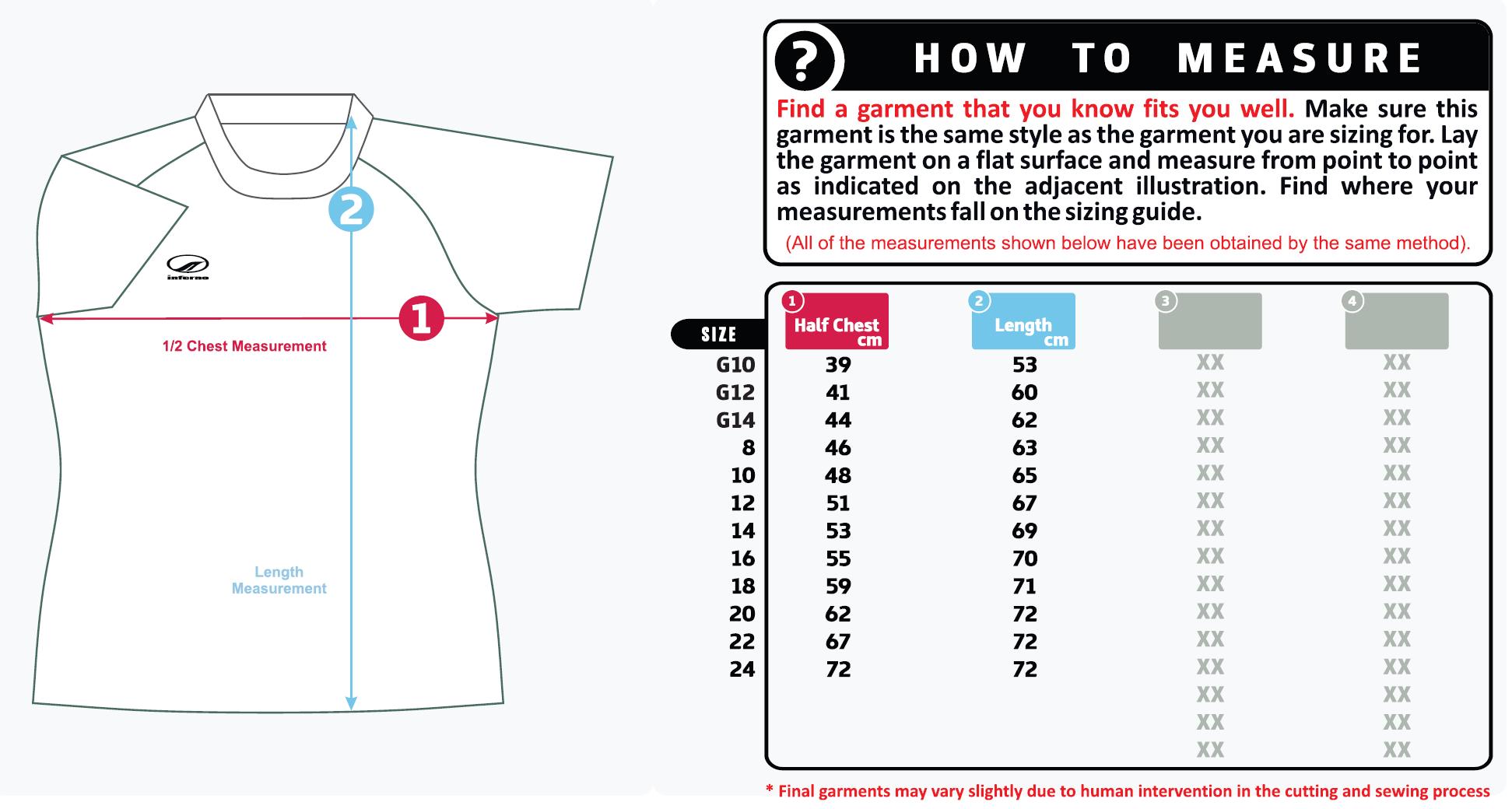 Women's sizing guide referee shirt