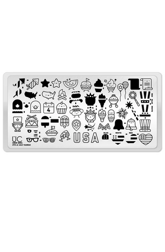 Mini Rubber Stamp Plate With Cutlery \u00d8 1,1 cm