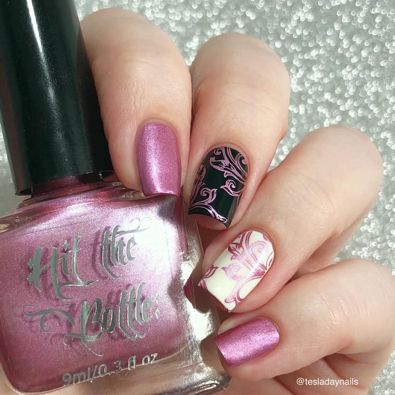 Chrome is Where the Tart Is stamping nail polish from Hit the Bottle ...