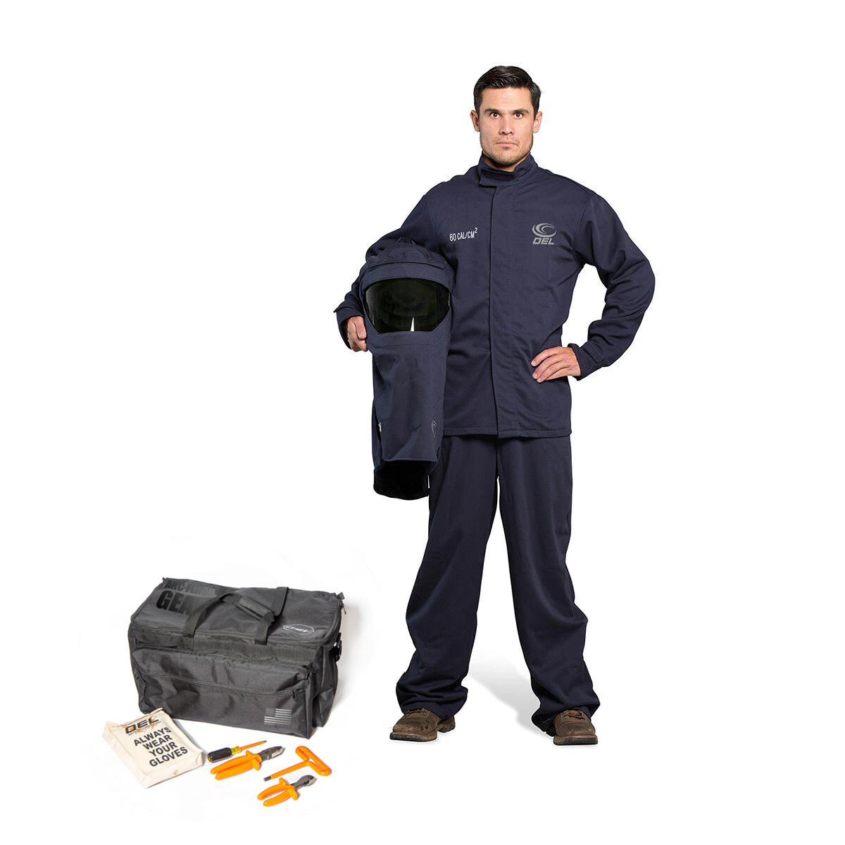 60 CAL Jacket and Bib Overalls Kit - (Without Gloves) with Switch Gear Hood