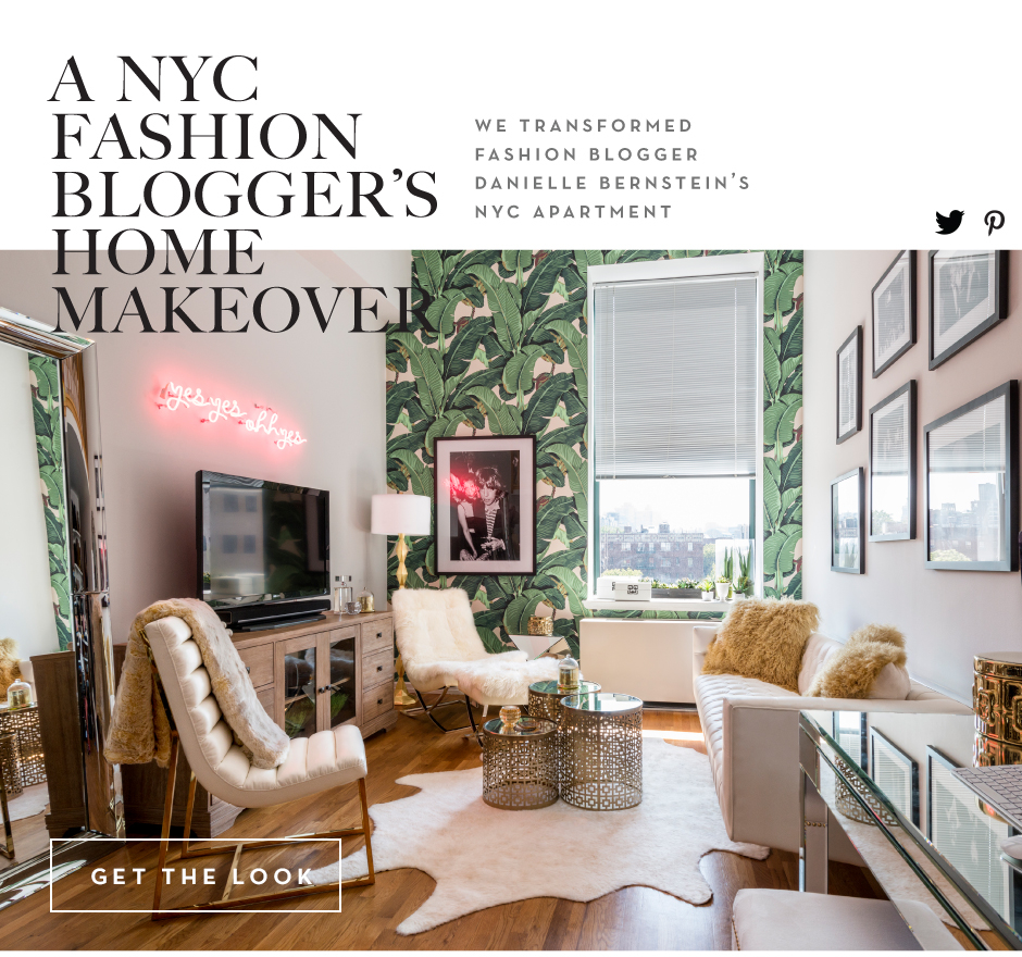 A NYC fashion bloggers home makeover. We transformed fashion blogger danielle's NYC apartment.                  Get the look