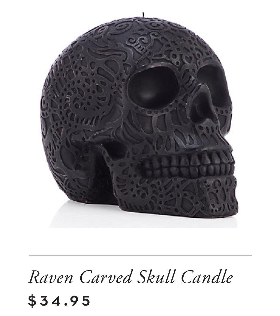 raven carved skull