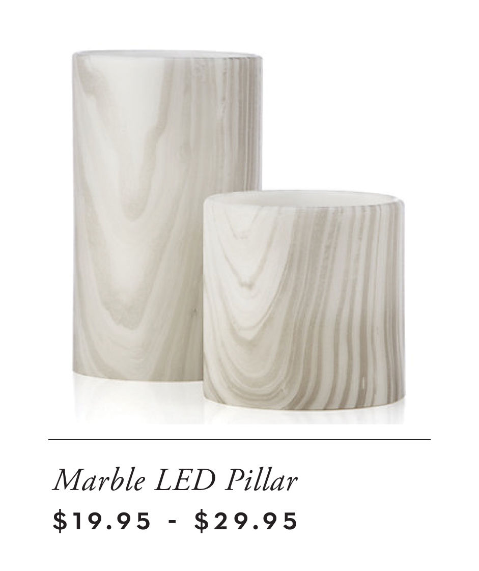 marble LED candles