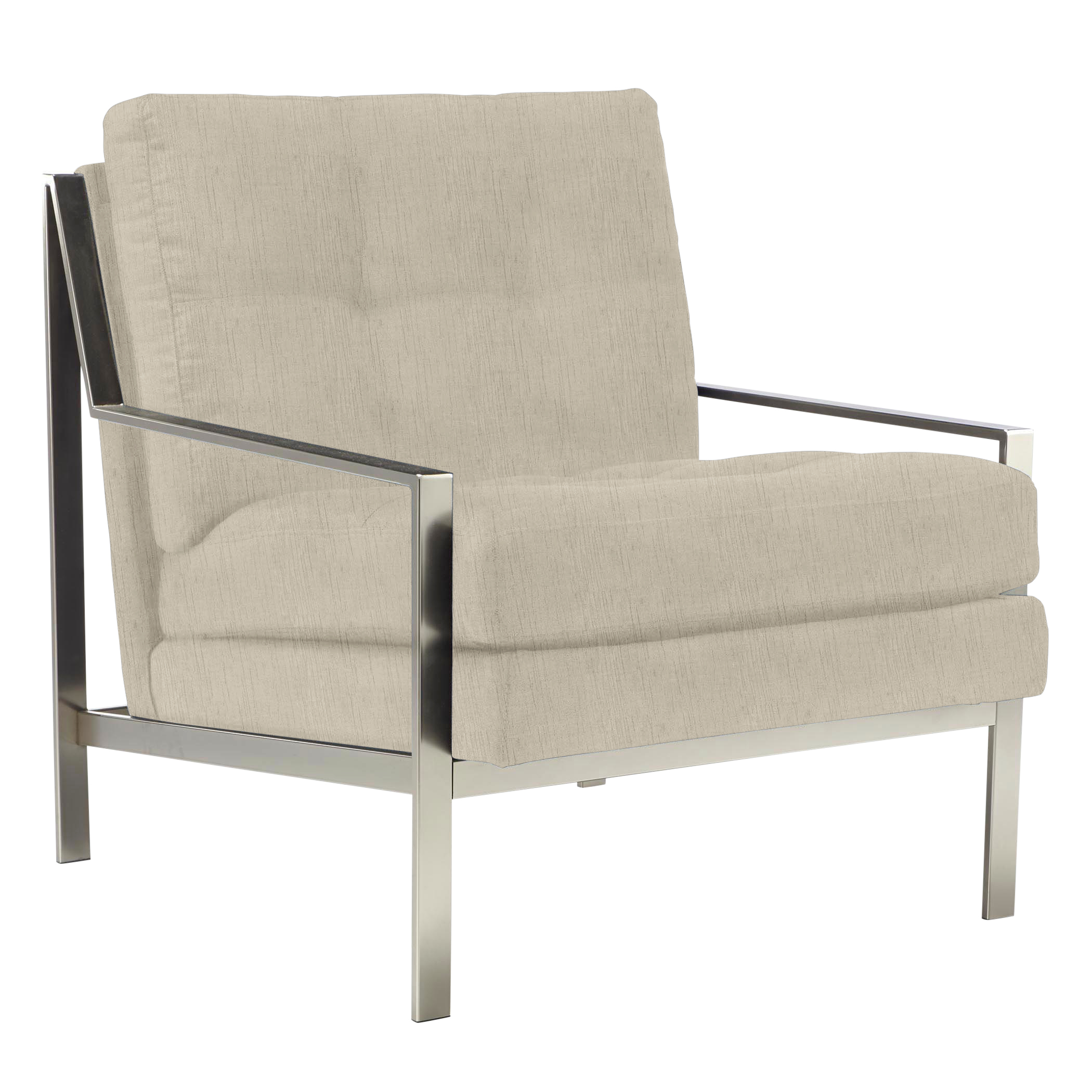 Axel Accent Chair - Brushed Silver