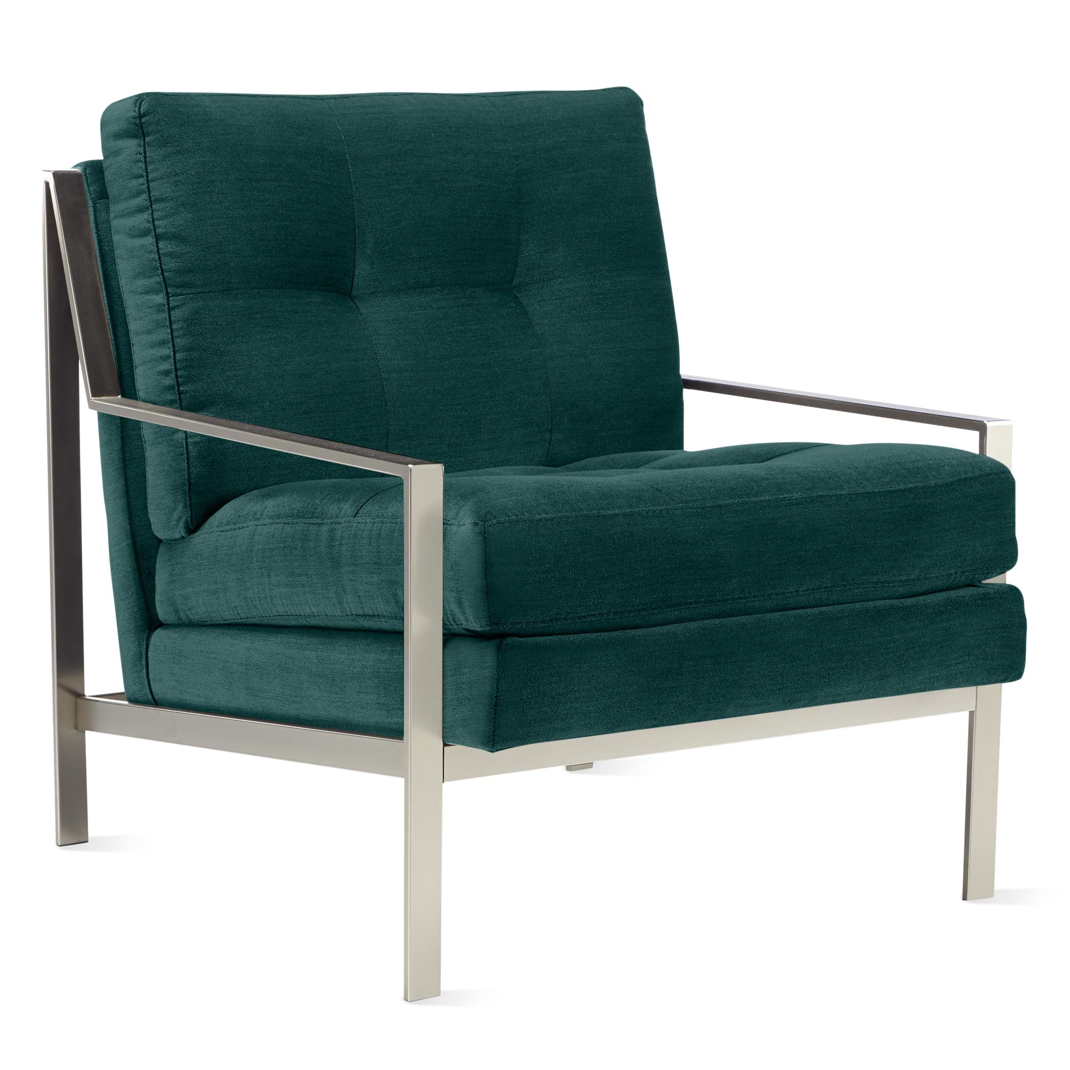 Axel Accent Chair - Brushed Nickel