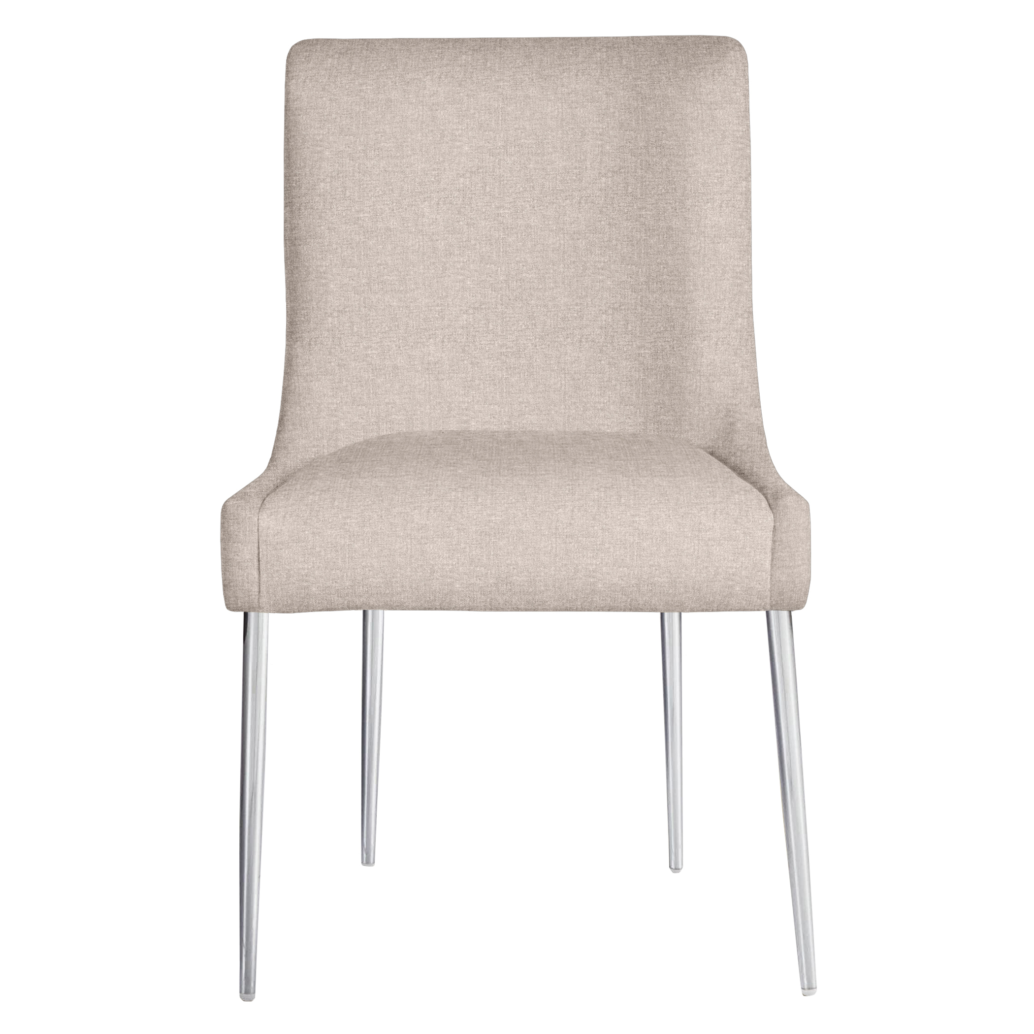 Elinor Dining Chair - Bright Nickel