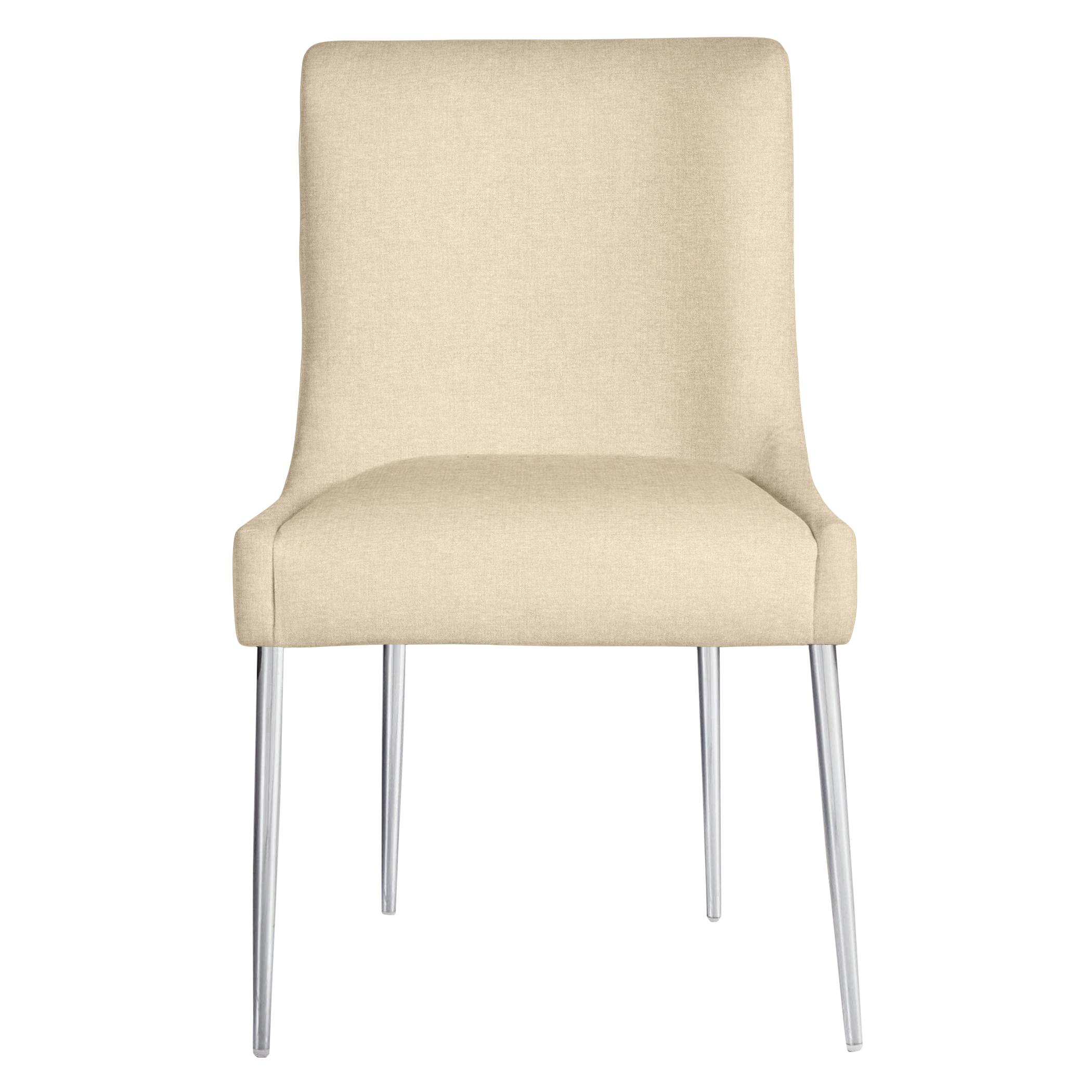 Elinor Dining Chair - Bright Nickel
