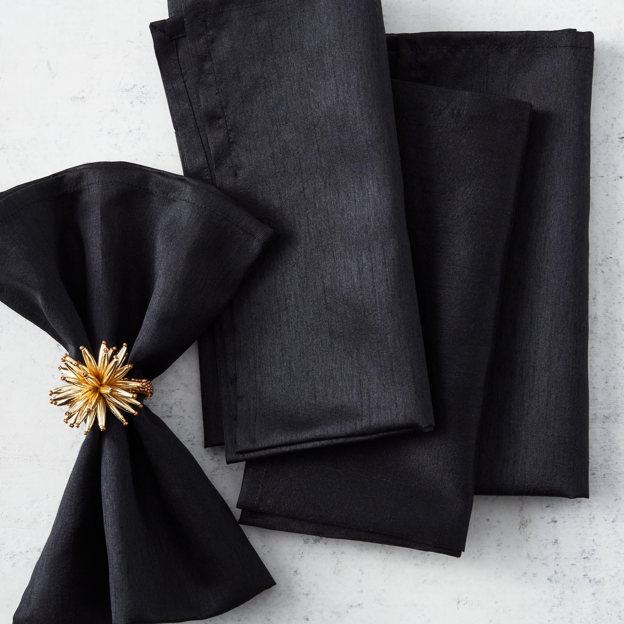 black - set of 4