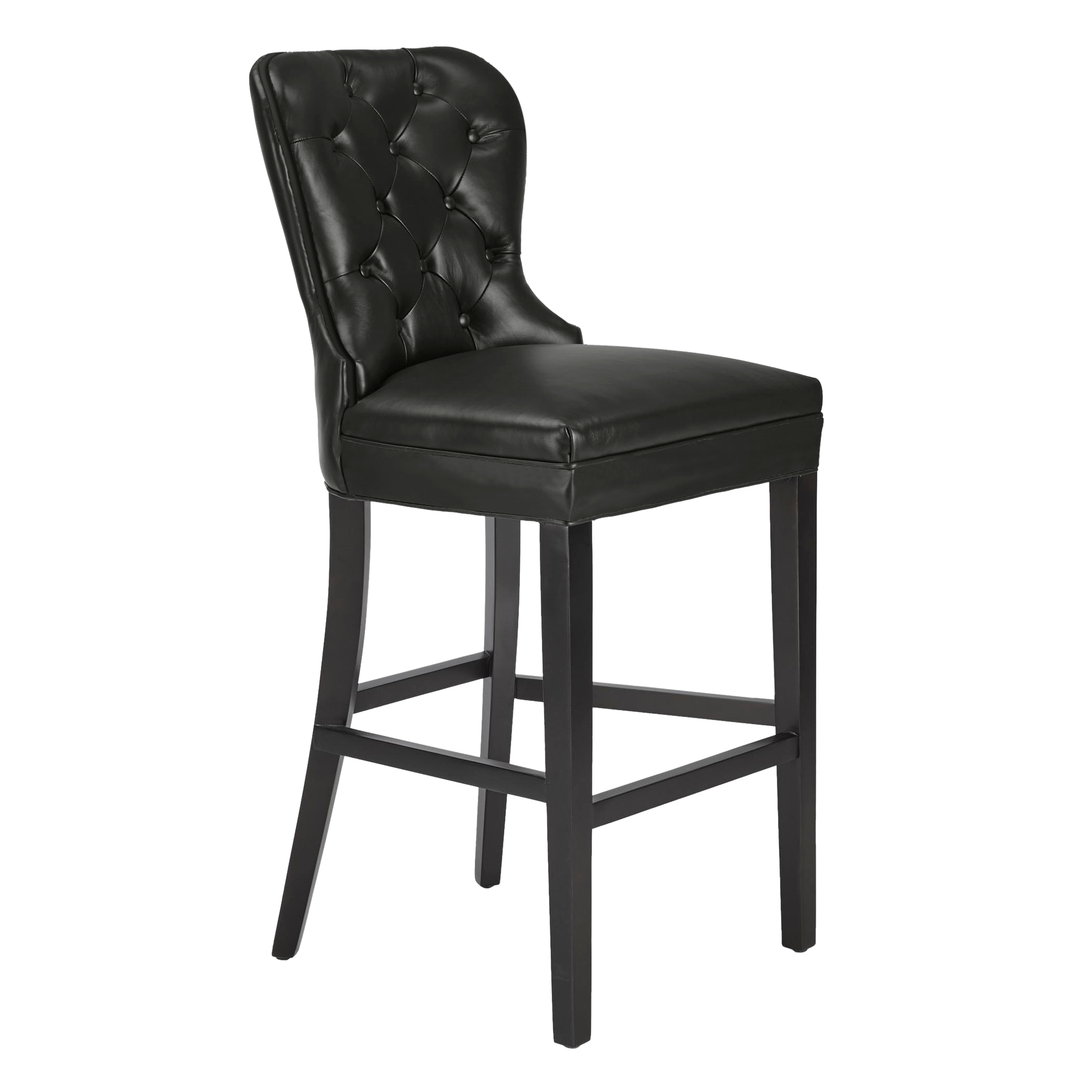 Charlotte Leather Stool - Espresso