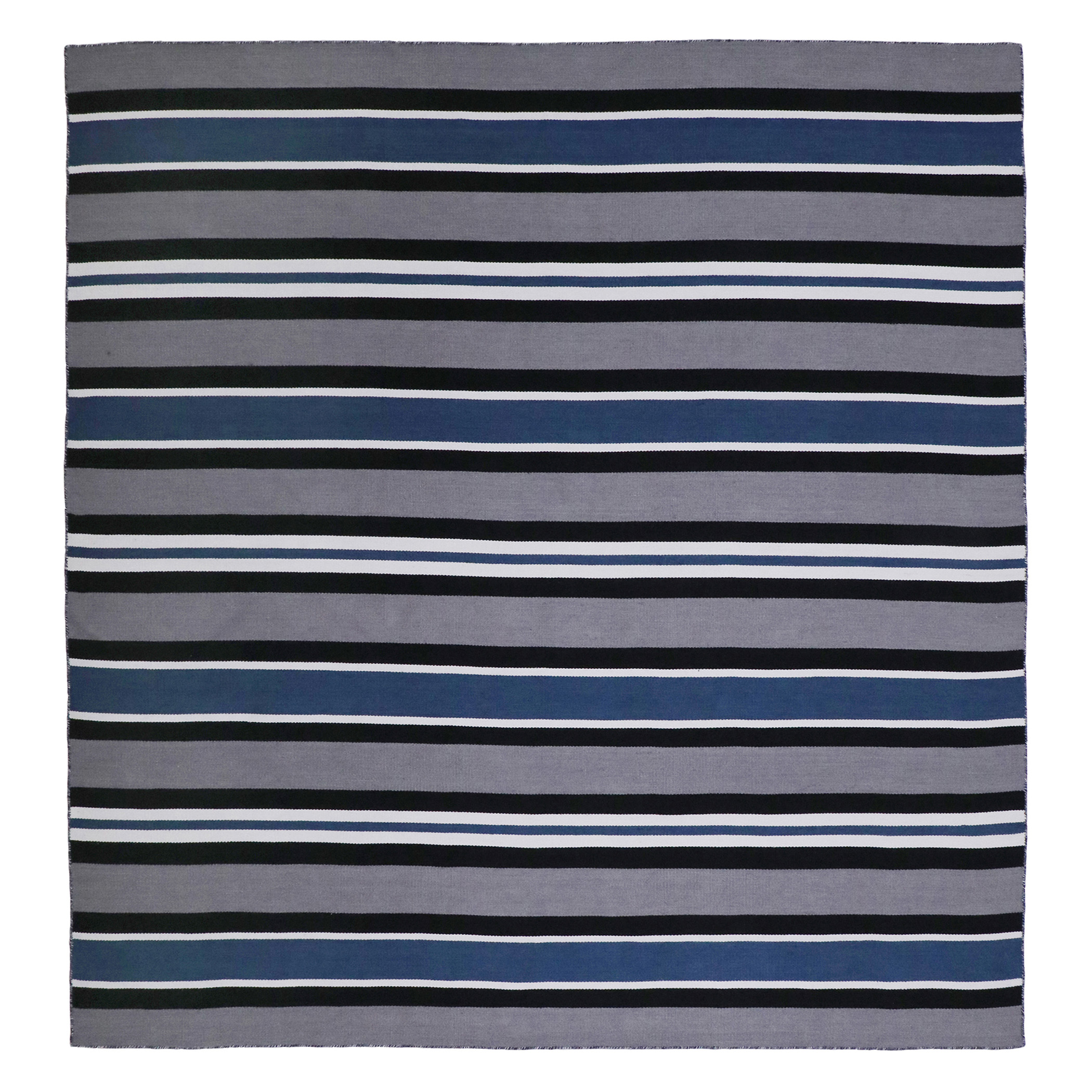 Variagated Stripe Outdoor Rug - Navy