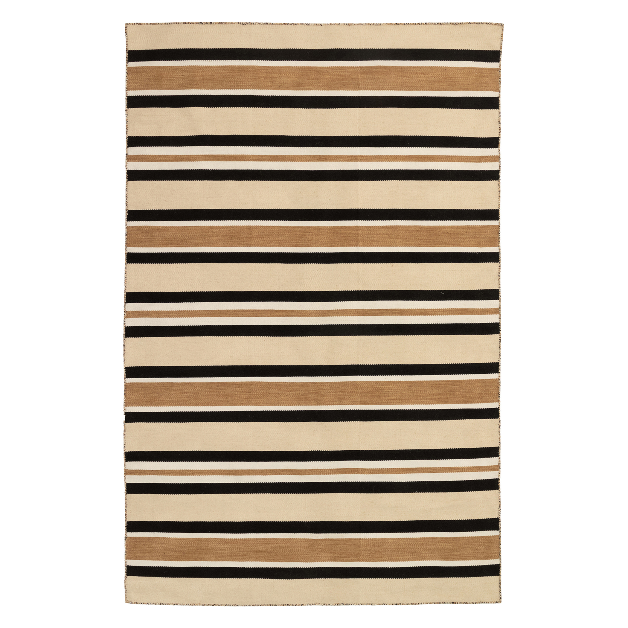 Variagated Stripe Outdoor Rug - Black