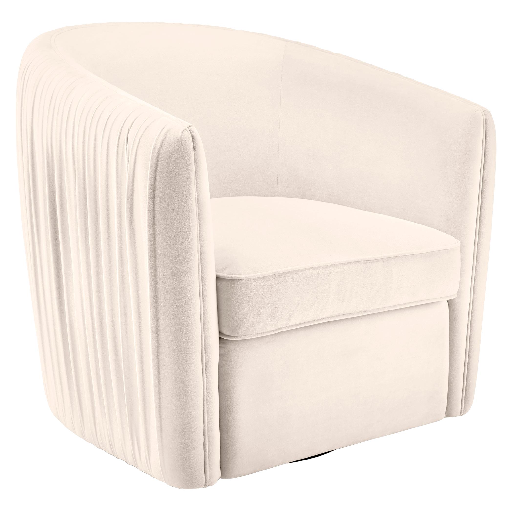 Aria Pleated Swivel Chair