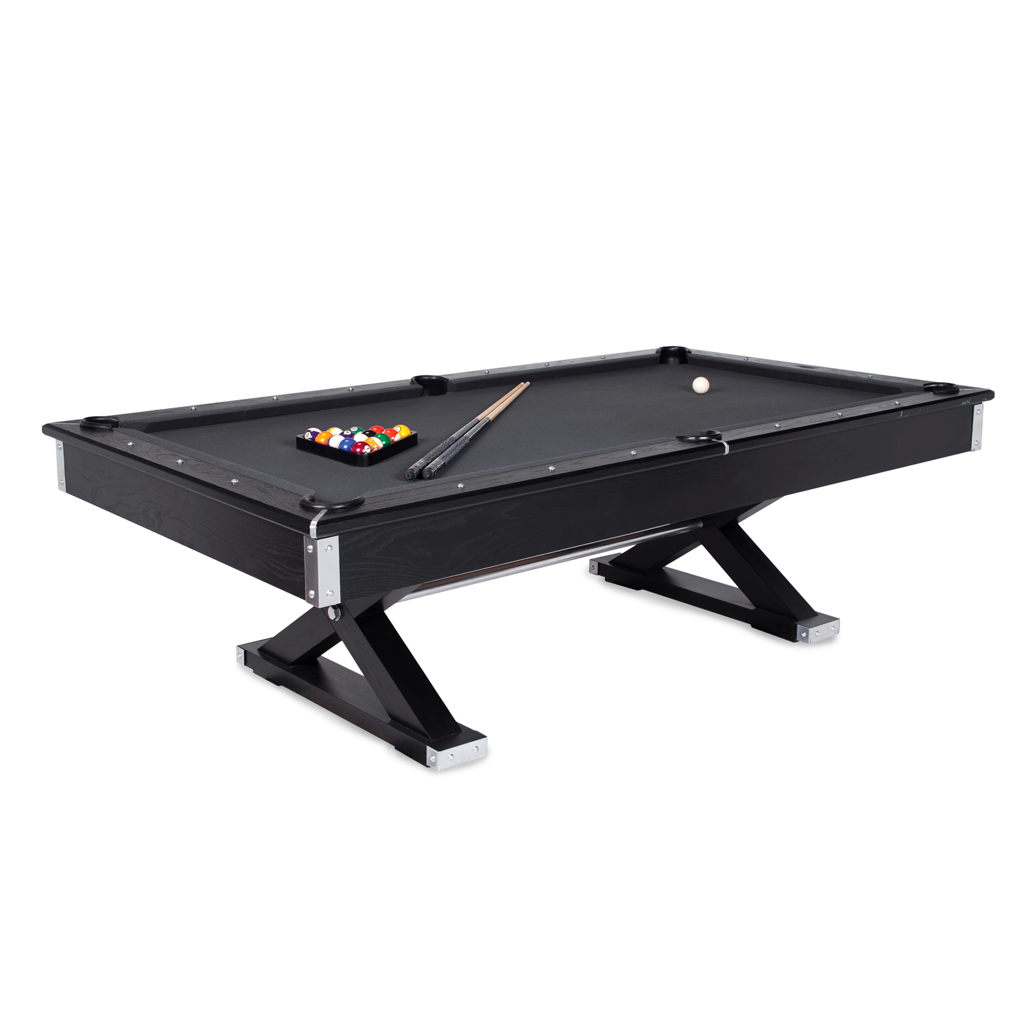 pool table - charcoal top (shown)