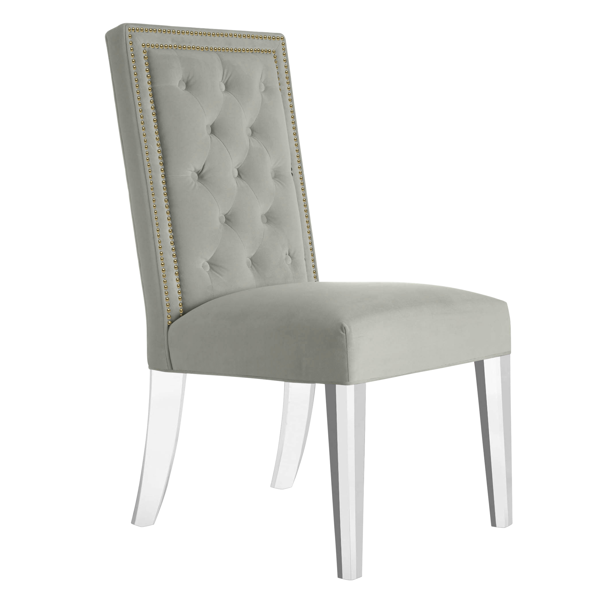 Maxwell Dining Chair With Nailheads - Acrylic