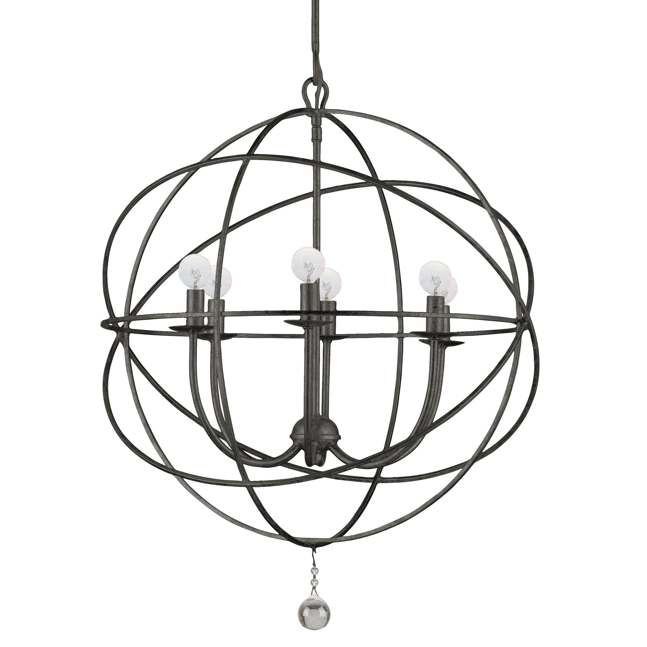 """six-arm chandelier 22""""d"""