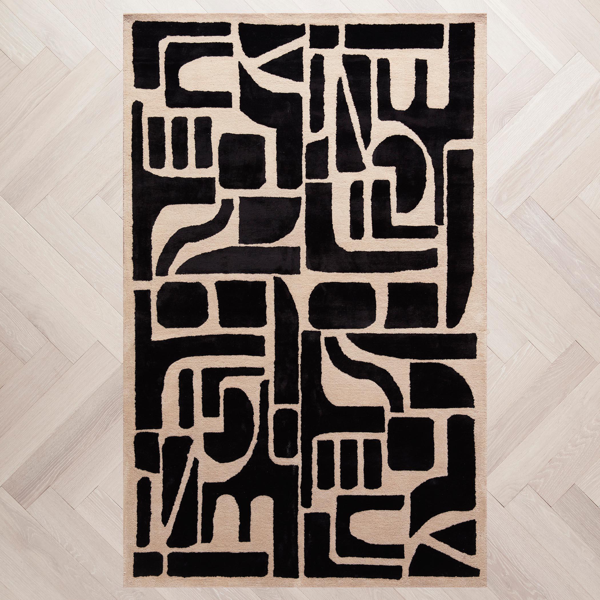 Miles Rug - Black/Ivory