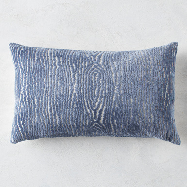 Faux Bois Lumbar Pillow