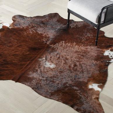 Augusto Hair On Cowhide Rug - Dark Brown