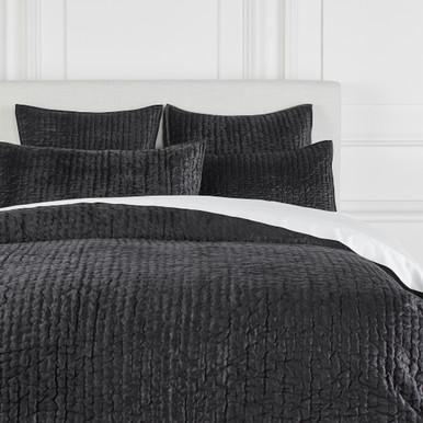 Mardon Velvet Bedding - Onyx