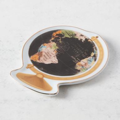 Vintage Globe Shaped Porcelain Tray