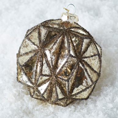 Faceted Ornament - Champagne