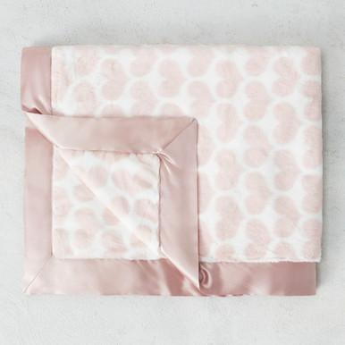 Luxe Heart Baby Blanket - Dusty Pink