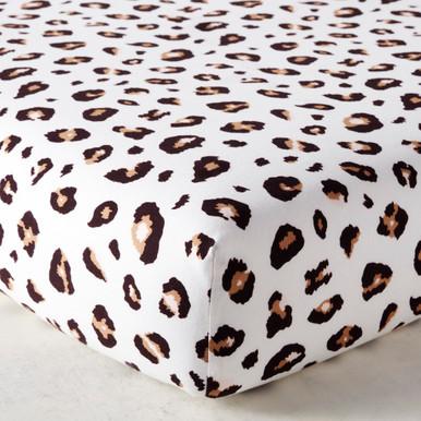Leopard Spot Crib Sheet - Ivory