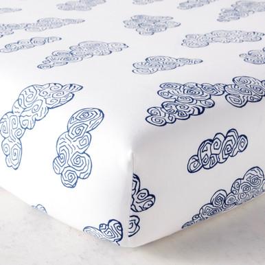 Cloud Crib Sheet - Navy